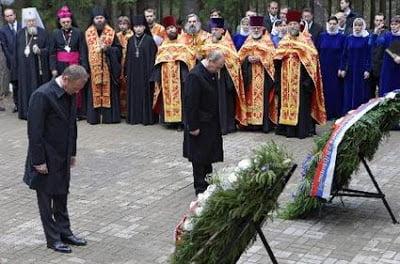 Ιστορική επίσκεψη Πούτιν στο δάσος Κατίν