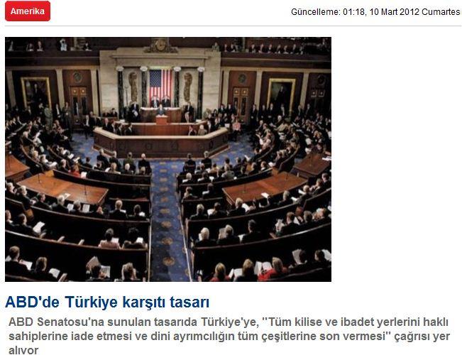 «Νομοσχέδιο των ΗΠΑ 'εναντίον' της Τουρκίας»