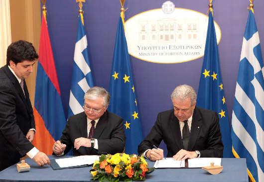 Δηλώσεις ΥΠΕΞ Δ. Αβραμόπουλου και ΥΠΕΞ Αρμενίας E. Nalbandian