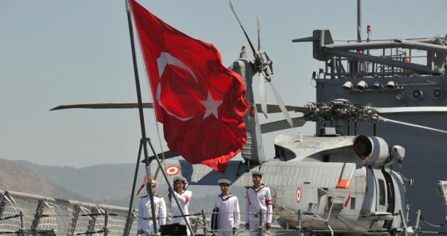 Βόρεια της Κρήτης η τουρκική κορβέτα
