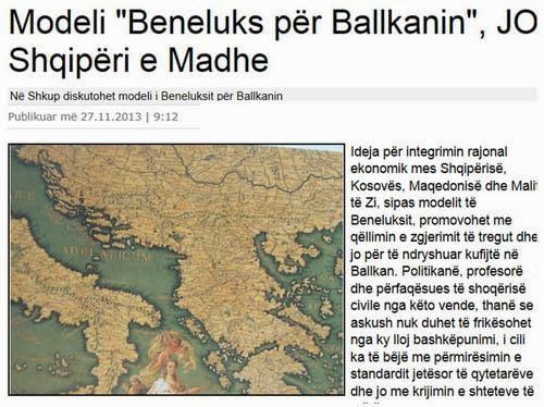 «Μοντέλο Μπενελούξ» και όχι Μεγάλη Αλβανία