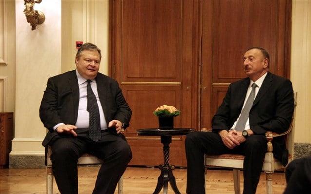 Ευ. Βενιζέλος: Στρατηγική επιλογή η προώθηση των διμερών σχέσεων με το Αζερμπαϊτζάν