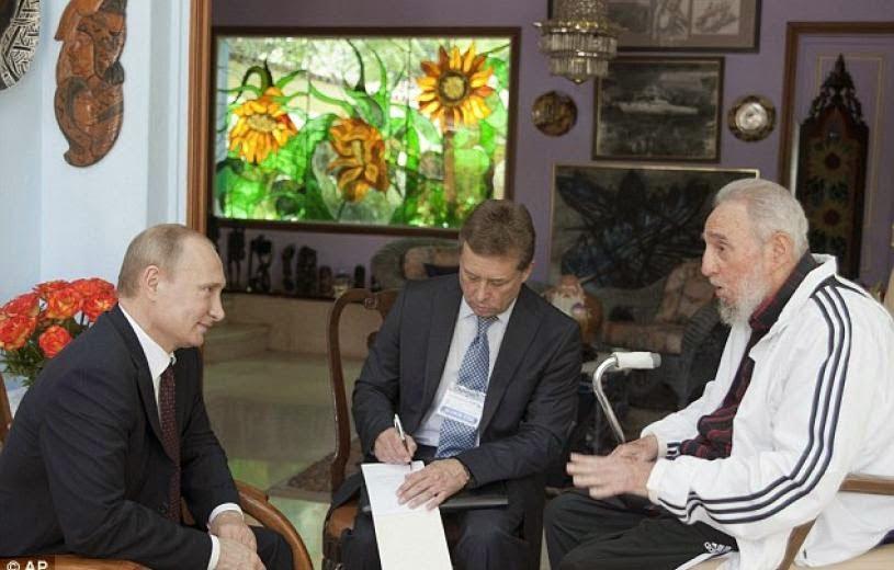 Ιστορική συνάντηση του Βλαντιμίρ Πούτιν με τον Φιντέλ Κάστρο