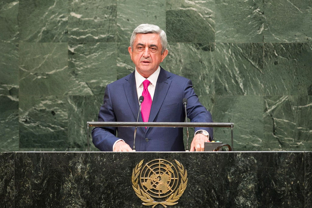 Σερζ Σαρκισιάν στον ΟΗΕ: 'Στο διάβολο οι συμφωνίες που δεν κυρώνει η Τουρκία'