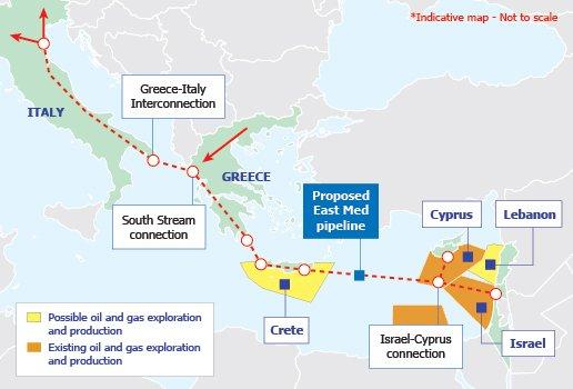 Πρόταση Ισραήλ για αγωγό μέσω Κύπρου που θα προμηθεύει την ΕΕ