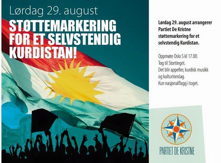 Οι Νορβηγοί διαδηλώνουν μπροστά από το κοινοβούλιο τους για την ανεξαρτησία του Μεγάλου Κουρδιστάν