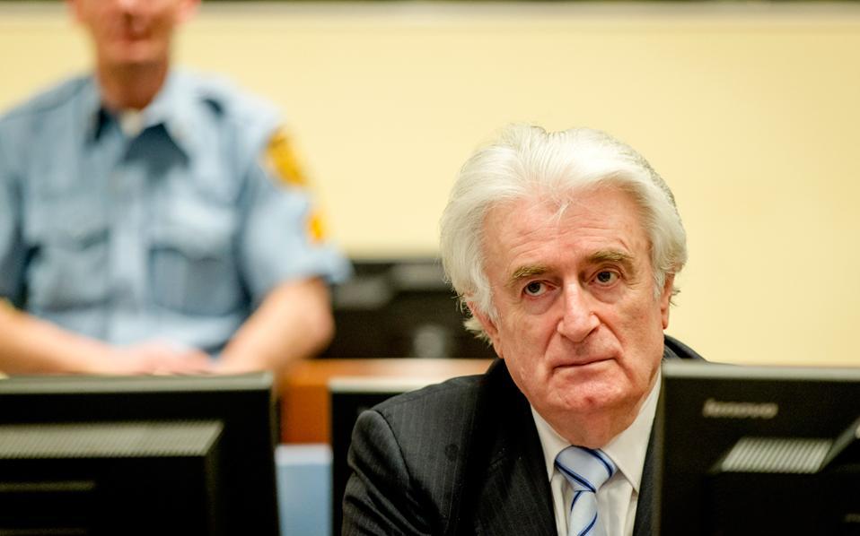 Καταδικάσθηκε σε κάθειρξη 40 ετών ο Κάρατζιτς