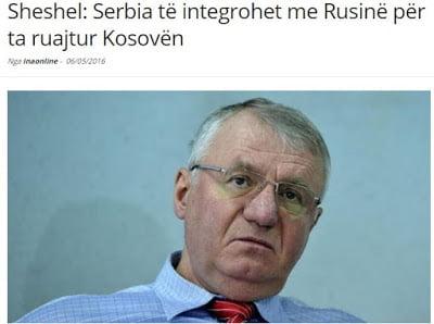 Βόισλαβ Σέσελι: Μόνο με την ένωση με τη Ρωσία θα διατηρήσουμε το Κοσσυφοπέδιο
