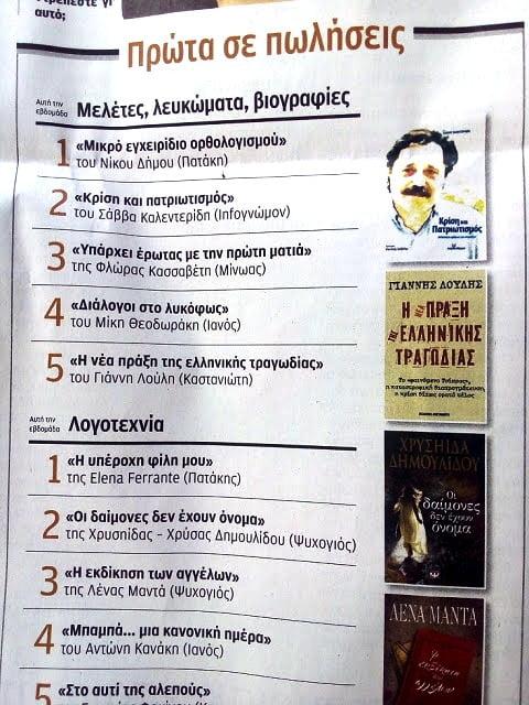 """Δεύτερο σε πωλήσεις το βιβλίο """"Κρίση και Πατριωτισμός"""" του Σάββα Καλεντερίδη – Να το κάνουμε πρώτο…"""