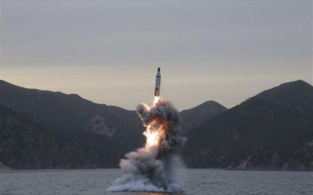 Η Β. Κορέα εκτόξευσε βαλλιστικό πύραυλο από υποβρύχιο