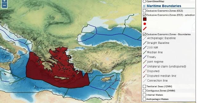 Αποκάλυψη: Νέοι παγκόσμιοι χάρτες οριοθέτησης της ΑΟΖ που δικαιώνουν την Ελλάδα