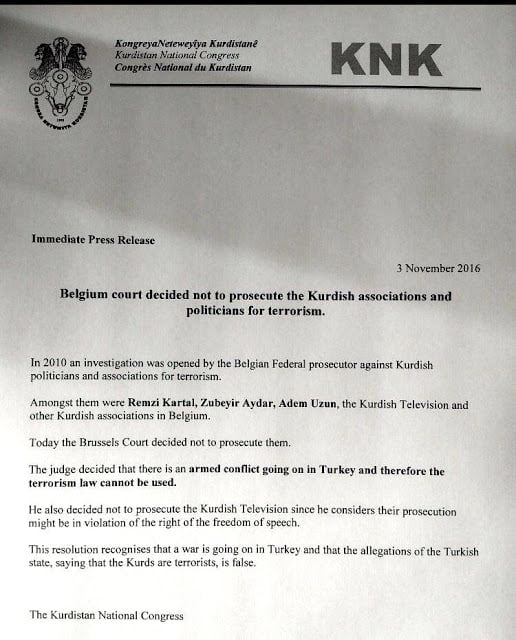 Βρυξέλλες: Απόφαση αναίρεσης στη δίκη κατά του ΡΚΚ
