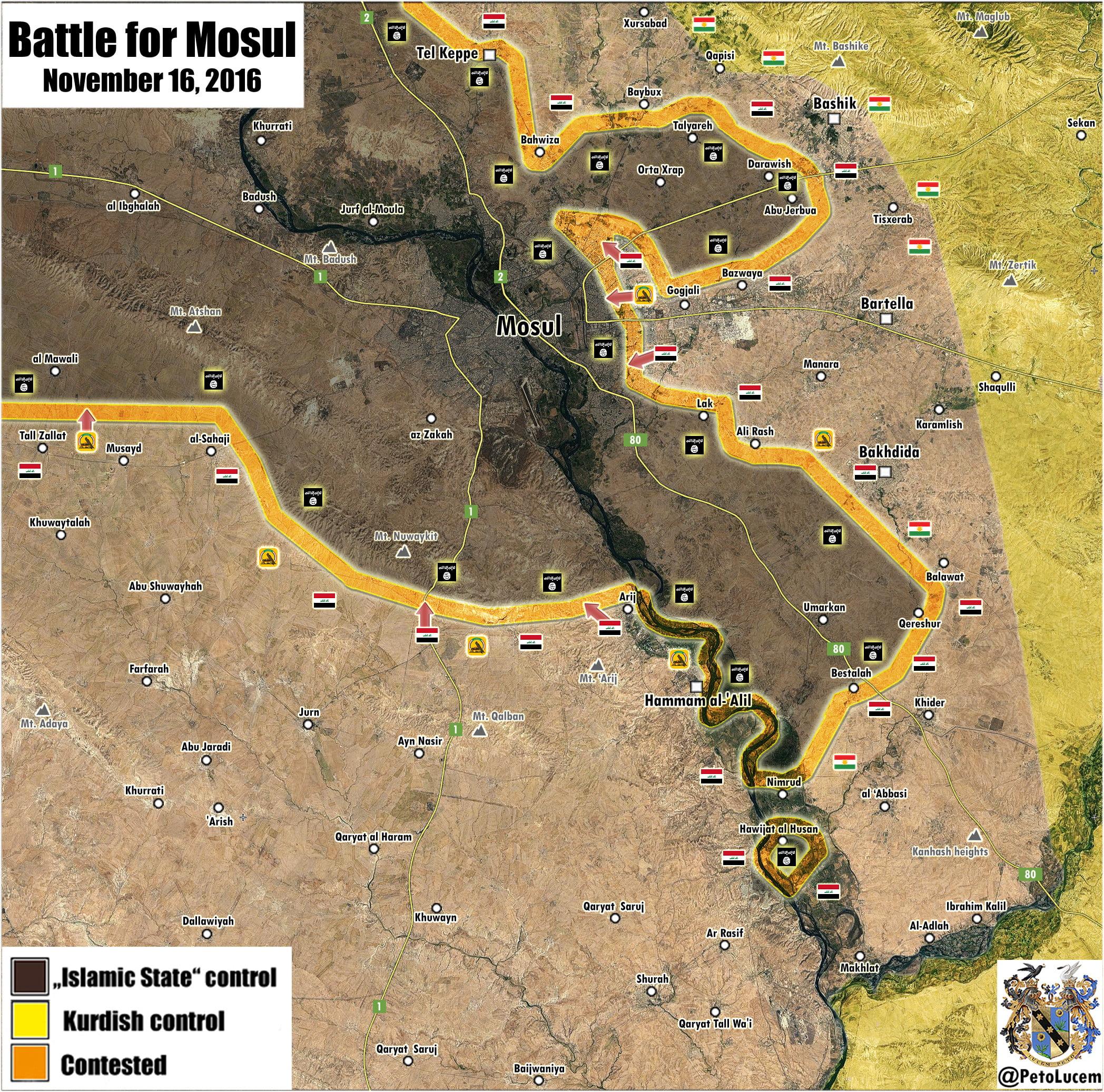 Πόλεμος στο Ιράκ: Η μάχη της Μοσούλης στις 16 Νοεμβρίου 2016