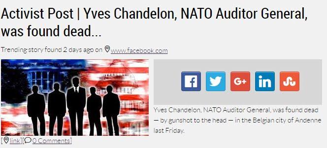 Μυθιστορηματική…Αυτοκτονία  Υψηλού Αξιωματούχου του ΝΑΤΟ στο Βέλγιο.