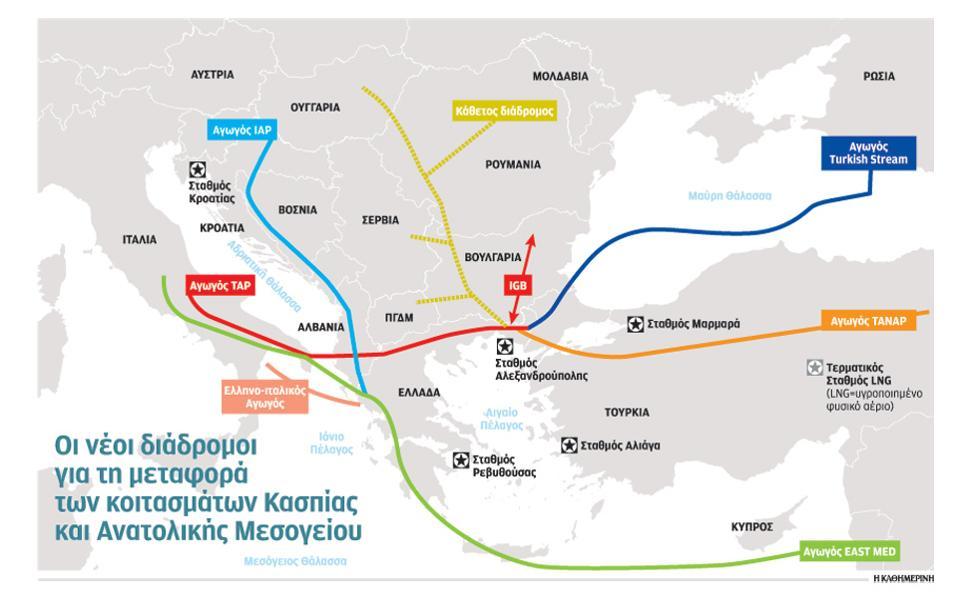 Ενεργειακό σκάκι στη ΝΑ Μεσόγειο