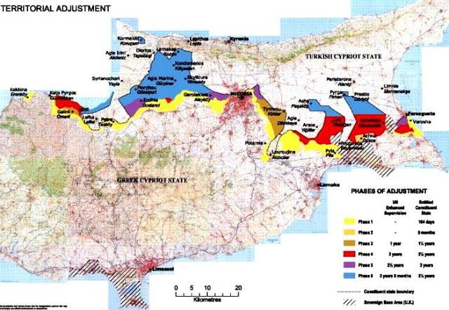 Αυτός είναι ο χάρτης για τα Κατεχόμενα που κατατέθηκε στη Γενεύη