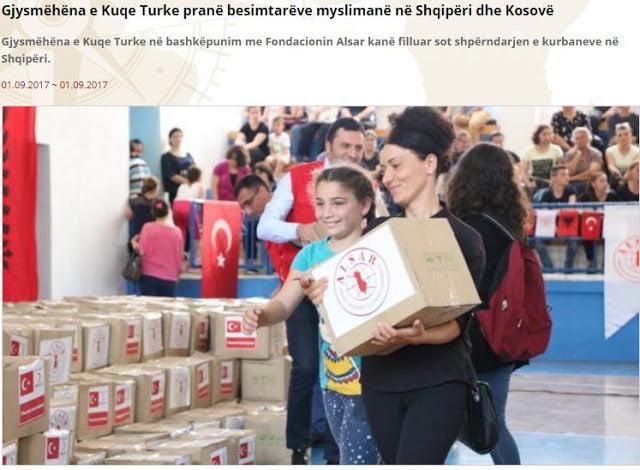 Η Τουρκία μοιράζει δώρα σε μουσουλμάνους της Αλβανίας και του Κοσσυφοπεδίου