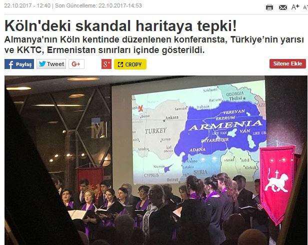 «Χάρτης σοκ στη Γερμανία- Η μισή Τουρκία στην Αρμενία!»