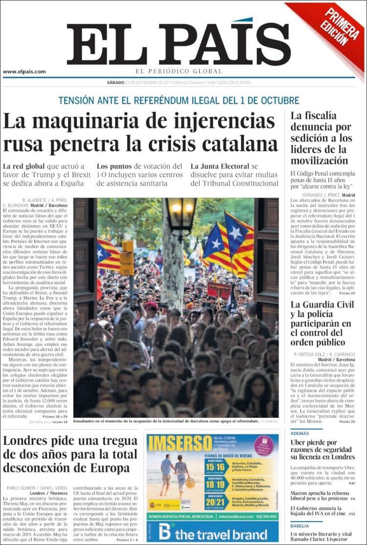 El País: Οι Ρώσοι και ο Τζούλιαν Ασάνζ κάνουν κυβερνοπόλεμο υπέρ της απόσχισης της Καταλονίας