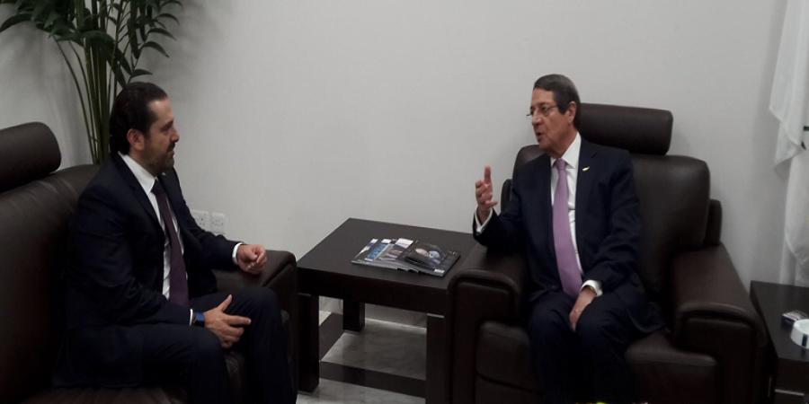 """Επίσκεψη """"αστραπή"""" του Χαρίρι-Είχε συνάντηση με Αναστασιάδη"""
