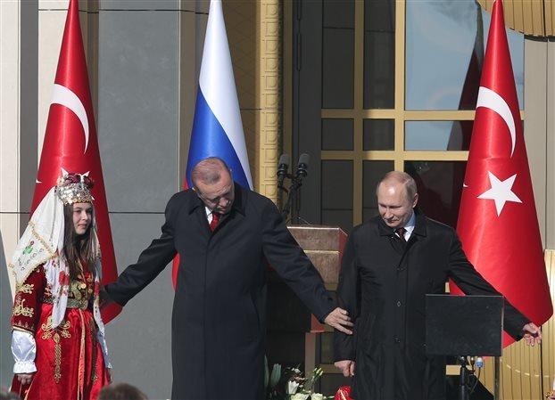 Πούτιν στην Αγκυρα: Προτεραιότητα η στρατιωτική συνεργασία – Έναρξη εργασιών για τον πρώτο πυρηνικό σταθμό της Τουρκίας