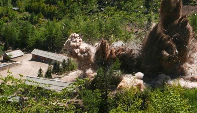 Ο Κιμ πάτησε το κουμπί: Δείτε τη στιγμή της καταστροφής των πυρηνικών εγκαταστάσεων