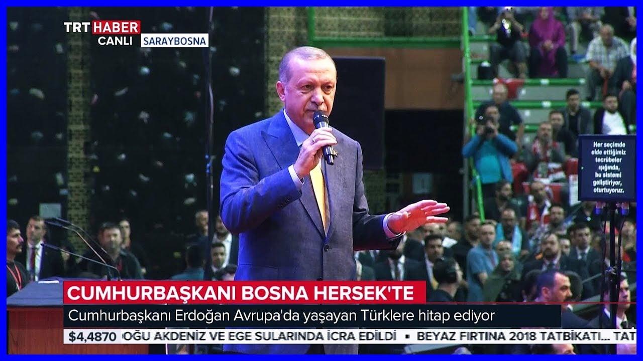 Η προεκλογική συγκέντρωση Ερντογάν στο Σεράγεβο
