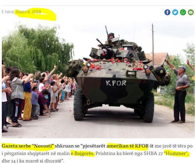 Κοσσυφοπέδιο: Αμερικανοί εκπαιδεύουν Αλβανούς για έλεγχο των σερβικών περιοχών