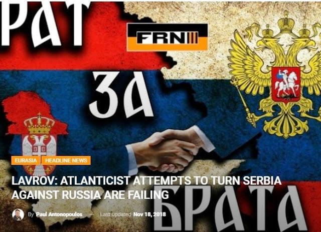 Σεργκέι Λαβρώφ:  Οι  Ατλαντιστές επιχειρούν να μετατρέψουν τα Βαλκάνια σε νέο ορμητήριο εναντίον της Ρωσίας