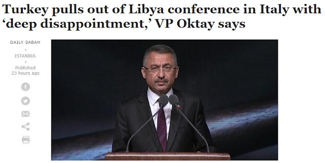 Η Τουρκία αποχώρησε από τη σύνοδο για τη Λιβύη