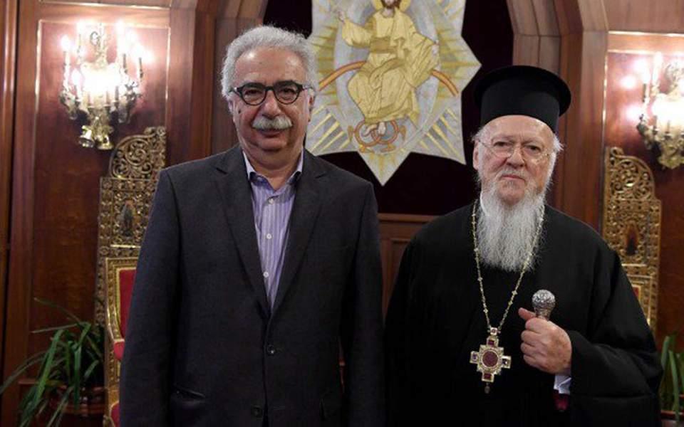Γαβρόγλου μετά τη συνάντηση με Βαρθολομαίο: Θα μεταφέρω τους προβληματισμούς του Οικουμενικού Πατριάρχη