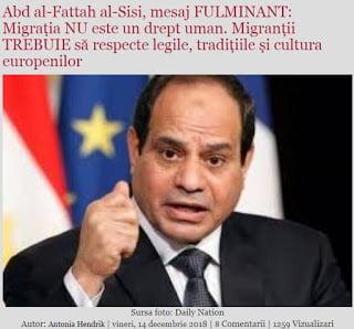 Πρόεδρος Αιγύπτου: Η Μετανάστευση Δεν Είναι Ανθρώπινο Δικαίωμα