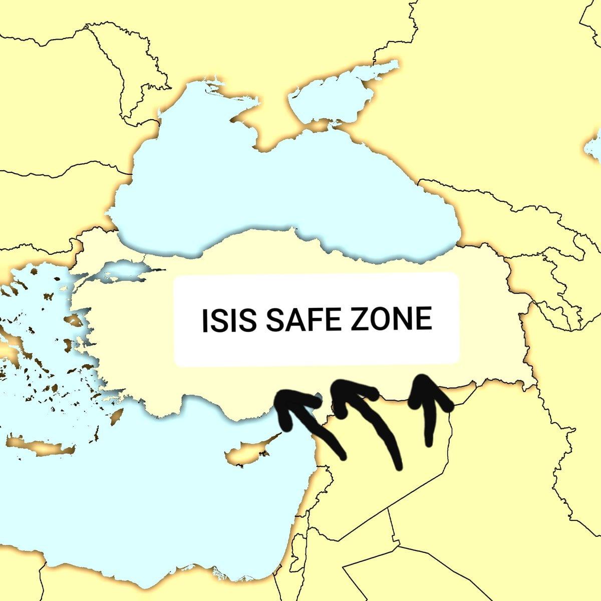 Αυτός ο χάρτης λέει αλήθειες – Η Τουρκία είναι ο βασικότερος υποστηρικτής του ISIS