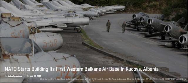 Το ΝΑΤΟ κατασκευάζει την πρώτη στρατιωτική βάση του στην Κούτσοβα της Αλβανίας