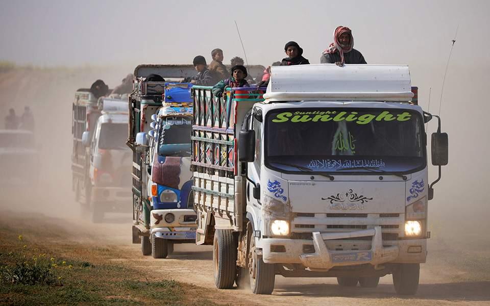 Απομακρύνονται οι άμαχοι από τελευταίο προπύργιο του Ισλαμικού Κράτους στη Συρία, πριν την τελική επίθεση