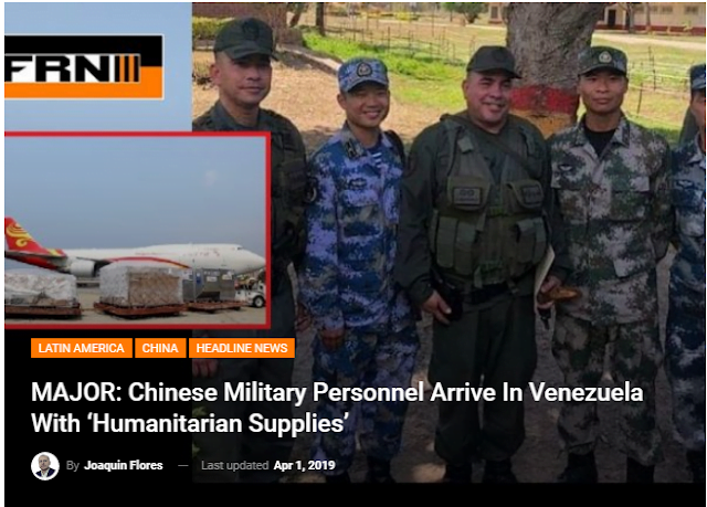 Και Κινεζικό Στρατιωτικό Προσωπικό στην Βενεζουέλα με «Ανθρωπιστικά Εφόδια»