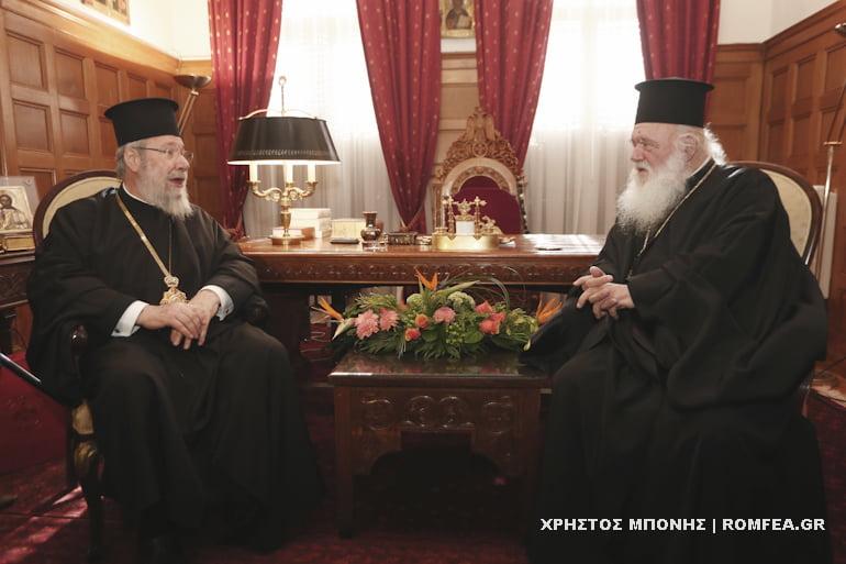 To εκκλησιαστικό πρόβλημα στην Ουκρανία στη συζήτηση Ιερώνυμου και Κύπρου Χρυσόστομου