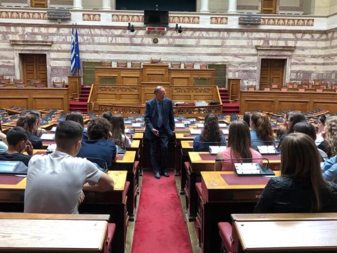 Μαθητές από Βουλιαράτες και Δερβιτσάνη στην Βουλή των Ελλήνων