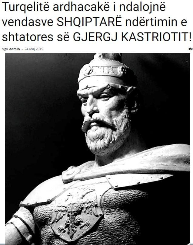 Οι Τούρκοι προκαλούν τους Αλβανούς: Όχι σε άγαλμα του Γκιέργκι Καστριότι!