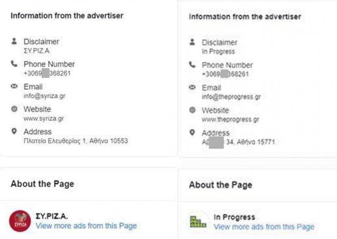 Φαινόμενα αδιαφάνειας στην προεκλογική διαφήμιση στο Facebook