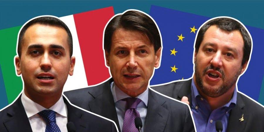 Ιταλία: Συμφωνία Conte – Salvini – Di Maio για την ανάγκη να αποτραπούν οι κυρώσεις της ΕΕ … με διαφωνίες για τα μέτρα
