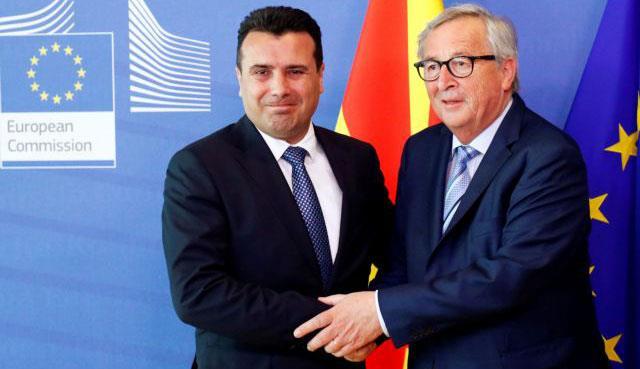 Ο Ζάεφ ζητά  από την Ε.Ε. να στηριχτεί ένα ψεύτικο έθνος και ένα κράτος με όνομα που δεν του ανήκει