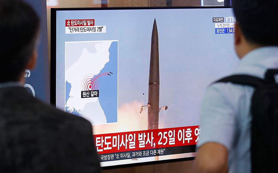 Η Βόρεια Κορέα εκτόξευσε βαλλιστικούς πυραύλους νέου τύπου