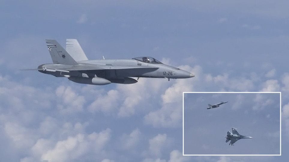 Αερομαχία μεταξύ αεροσκαφών της Ρωσίας και του ΝΑΤΟ (ΒΙΝΤΕΟ