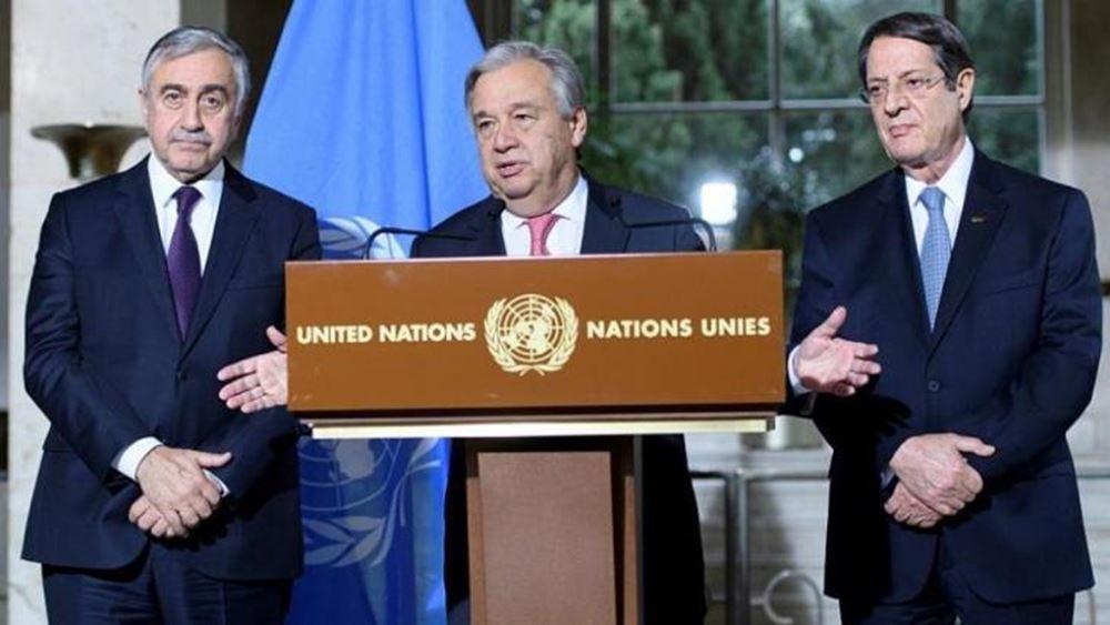 """""""Βήμα-βήμα"""" η διαδικασία του ΟΗΕ για το Κυπριακό"""