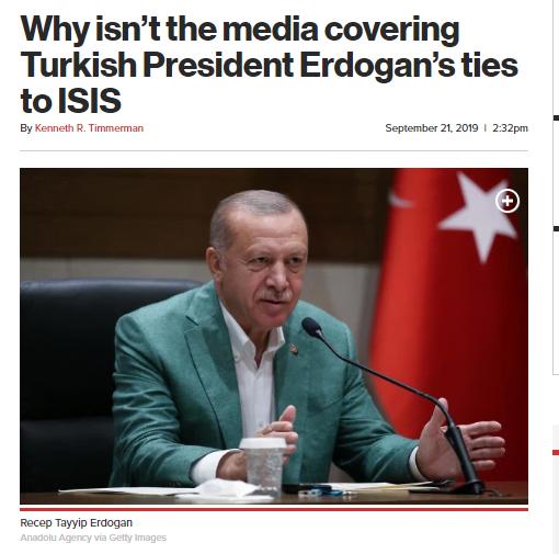 New York Post: Η Τουρκία στηρίζει τον ISIS και τα αμερικανικά ΜΜΕ συνεχίζουν να σιωπούν