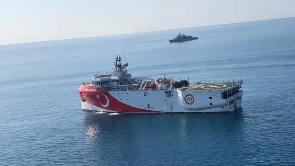Στην Ανατολική Μεσόγειο υπό συνοδεία φρεγάτας το «Ορουτς Ρέις»
