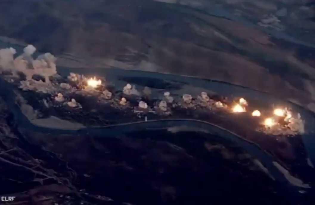 Μαζικός αεροπορικός βομβαρδισμός σε κρησφύγετο του ISIS από F-15 και F-35 (Βίντεο)