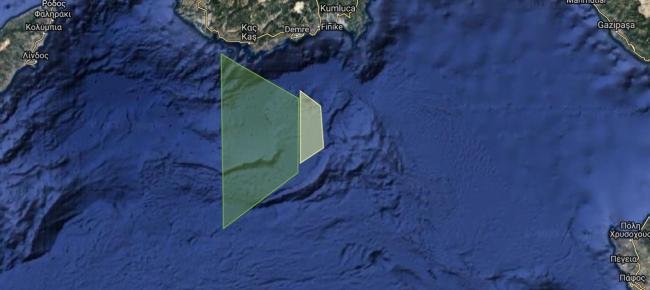 Η Τουρκία διεκδικεί τον έλεγχο του θαλάσσιου χώρου μεταξύ Καστελόριζου-Κύπρου