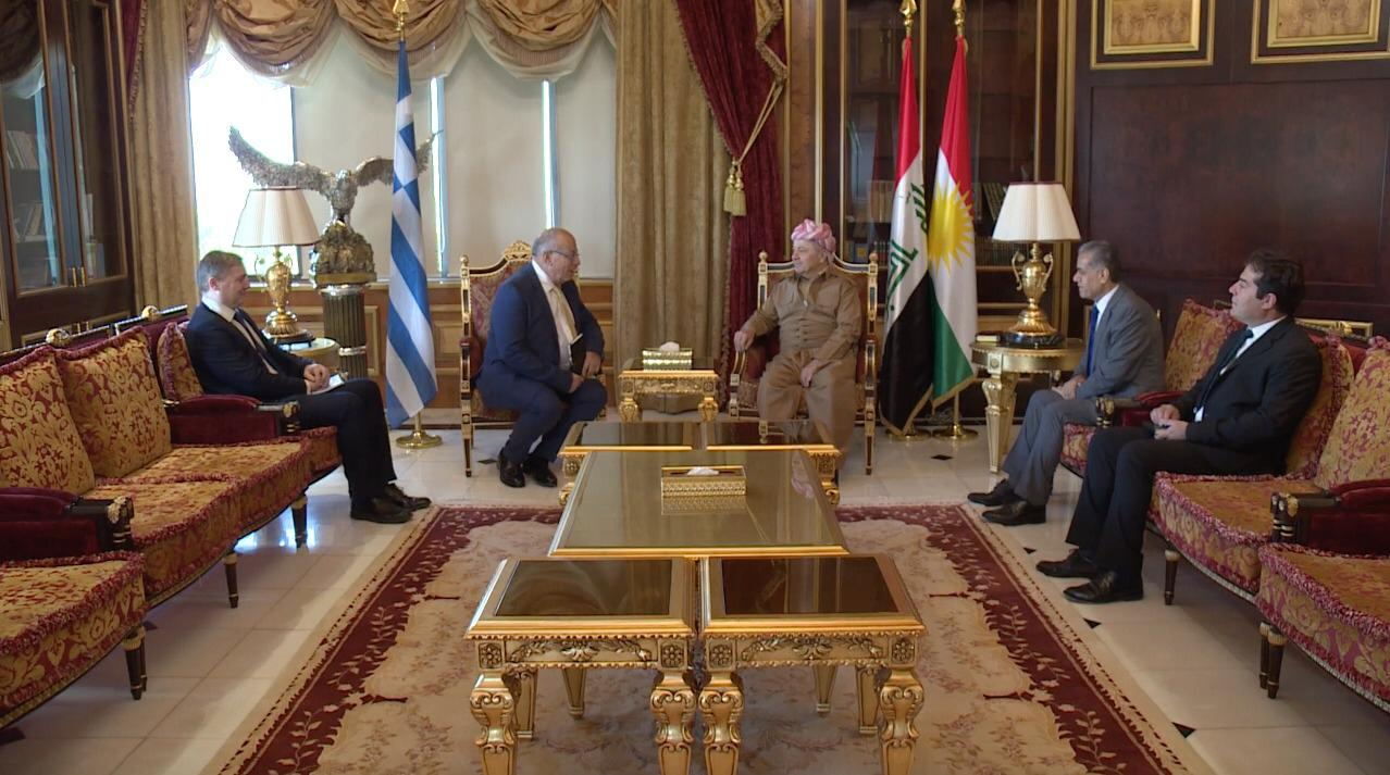 KDP leader, Greek diplomats discuss Erbil-Athens ties, political situation in Iraq